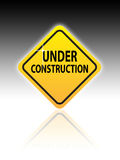 Web Site Under Construction Sign Royalty Free Stock Photography