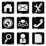 Web site vector glossy icon set Stock Images