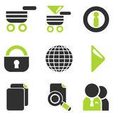 Web site vector icon set Royalty Free Stock Images