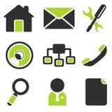 Web site vector icon set Stock Photo