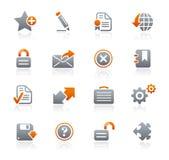 Web site y Internet de // de los iconos del grafito Imagen de archivo