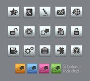Web site y Internet más la serie de // Satinbox Foto de archivo libre de regalías