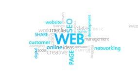 Web, sitio web, tipografía ilustración del vector