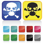 Web skull buttons-suggested colors, glossy Stock Photography