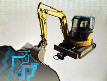 Web sob a construção ou o reparo Imagens de Stock Royalty Free