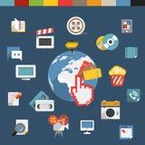 Web social media concept Royalty Free Stock Photos