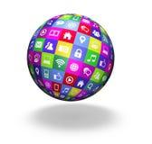 Web Social Media Globe Stock Photography