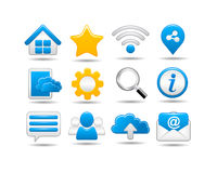 Web and Social media Icon set Royalty Free Stock Photo