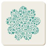 Web and social media icons abstract background Royalty Free Stock Images