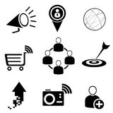 Web and social media icons Royalty Free Stock Image