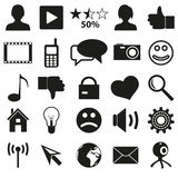 Web and social networks set of simple icons eps10 Stock Photos