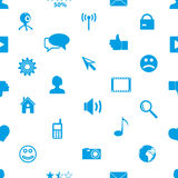 Web and social networks simple icons seamless pattern eps10 Royalty Free Stock Photo
