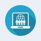 Web social union icon Royalty Free Stock Images