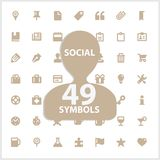 Web and social vector symbols set Royalty Free Stock Photography