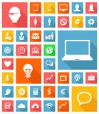 Web and Soft Icon set Royalty Free Stock Photography