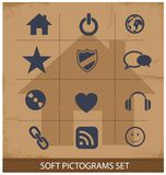Web software pictogram symbols set  Royalty Free Stock Photo