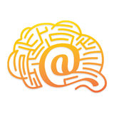 Web solution. S - brain with labyrinth Royalty Free Stock Image