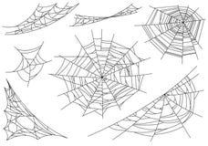 Web spider cobweb icons set. Outline illustration of web spider cobweb vector icons for web.  royalty free illustration