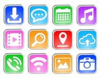 Web square icons set Royalty Free Stock Image
