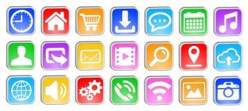 Web square icons set Royalty Free Stock Photo