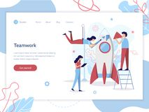 Web startup banner vector illustration