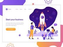 Web startup banner stock illustration
