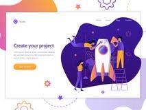 Web startup banner royalty free illustration