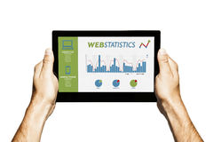Web statistics template in a tablet screen. Stock Photography