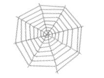 A web of steel chaind №1 Royalty Free Stock Photo