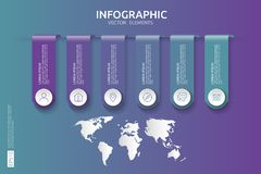 Web6 steps infographic. timeline design template with 3D paper label and world map background. Business concept with options. For. 6 steps infographic. timeline Royalty Free Stock Photos