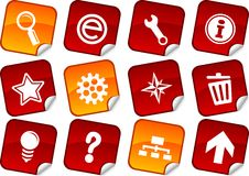 Web stickers. stock illustration