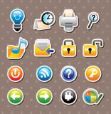 Web stickers Stock Photography