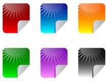 Web stickers Stock Image