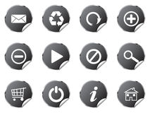 Web stickers. Button isolated on white background Royalty Free Stock Photos