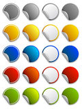 Web stickers, labels and icons - round. Vector colour stickers, labels and icons - round Stock Photography