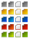 Web stickers, labels and icons - square. Vector colour stickers, labels and icons - square Stock Photos