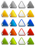 Web stickers, labels and icons - triangle. Vector colour stickers, labels and icons - triangle Royalty Free Stock Image