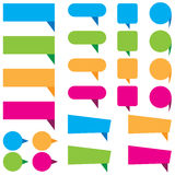 Web stickers, tags, and labels of Blue, green, orange, and pink template isolated  Stock Images