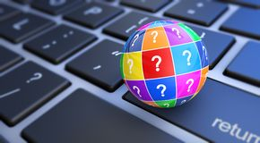 Web It Support Assistance Questions royalty free illustration