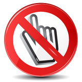 Web surfing forbidden Stock Images