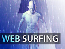 Web surfing illustration Royalty Free Stock Images