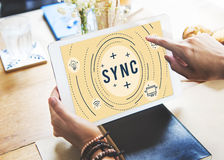 Web Sync Trend Update Networking Concept. Web Sync Trend Update Networking Stock Photo