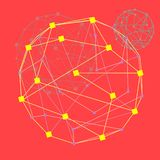 web T?nel cibern?tico del c?rculo de color, fondo abstracto futurista, ejemplo del vector stock de ilustración