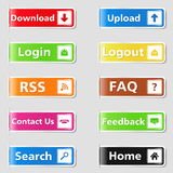 Web Tabs Royalty Free Stock Photography