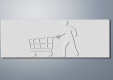 Web-Tasten Lizenzfreies Stockbild