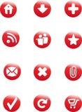 Web-Tasten eingestellt worden Stockfoto
