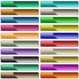 Web-Tasten in sortierten Farben Lizenzfreie Stockfotografie