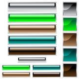 Web-Tasten in sortierten glatten Farben Lizenzfreie Stockfotos