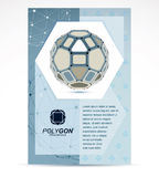 Web technologies company booklet cover design. 3d origami abstra Stock Image