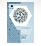 Web technologies company booklet cover design. 3d origami abstra Stock Photo